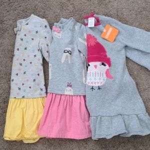Bundle of 3 Gymboree girl dresses 3T